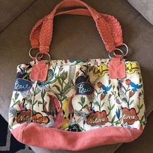 Fossil canvas purse